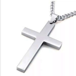 Alloy silver plated men/women necklace stainless s
